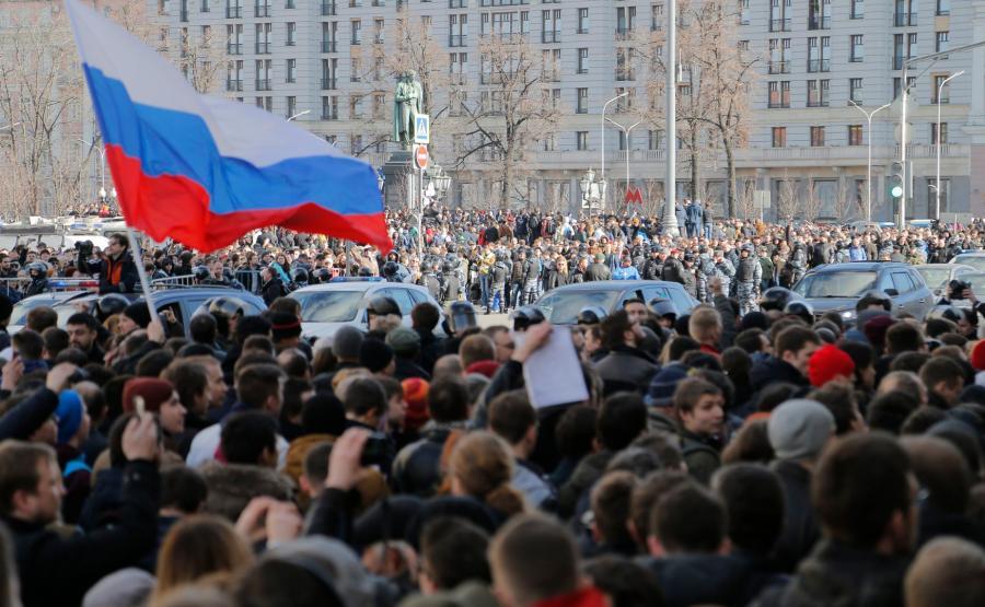 Demonstracja opozycji w Moskwie