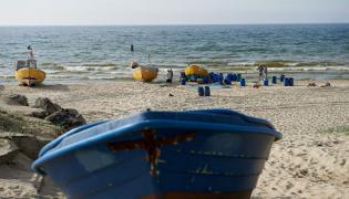 Plaża w Piaskach na Mierzei Wiślanej