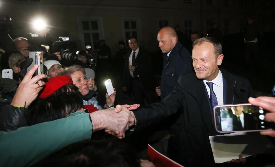 Donald Tusk po przesłuchaniu