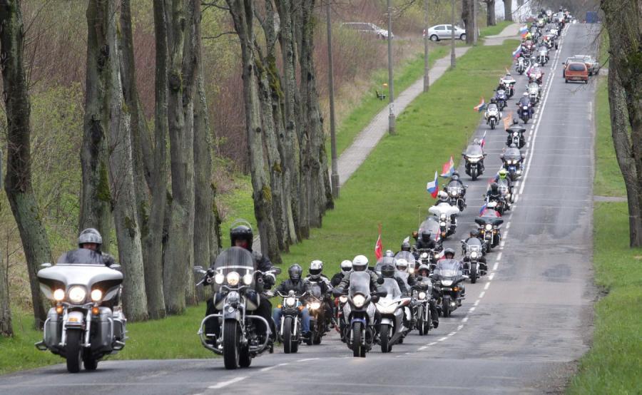 Kawalkada motocyklistów