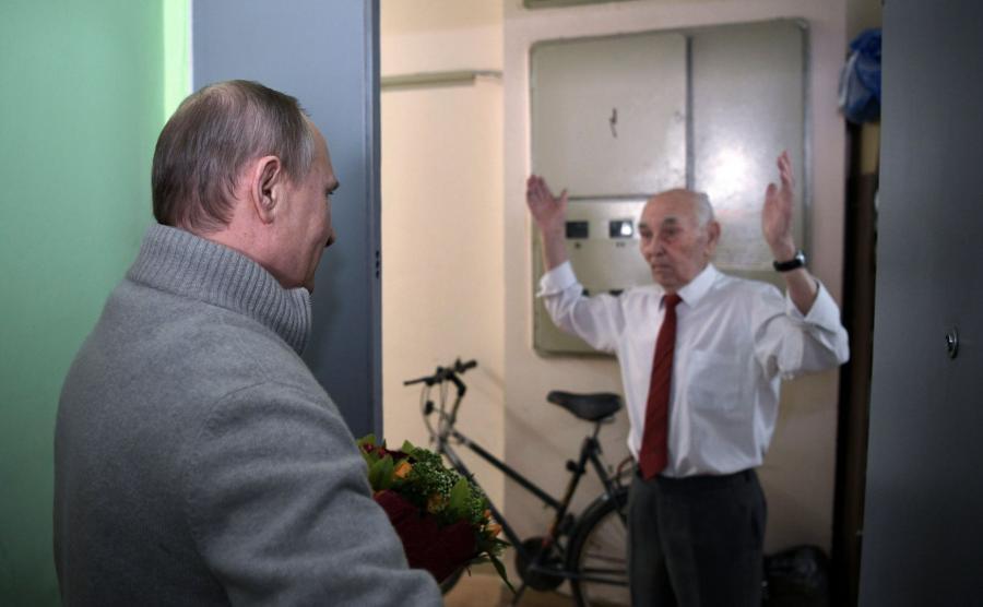 Putin i jego byy szef z Drezna