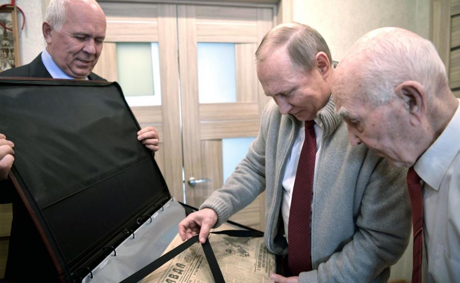 Władimir Putin u Łazara Matwiejewa