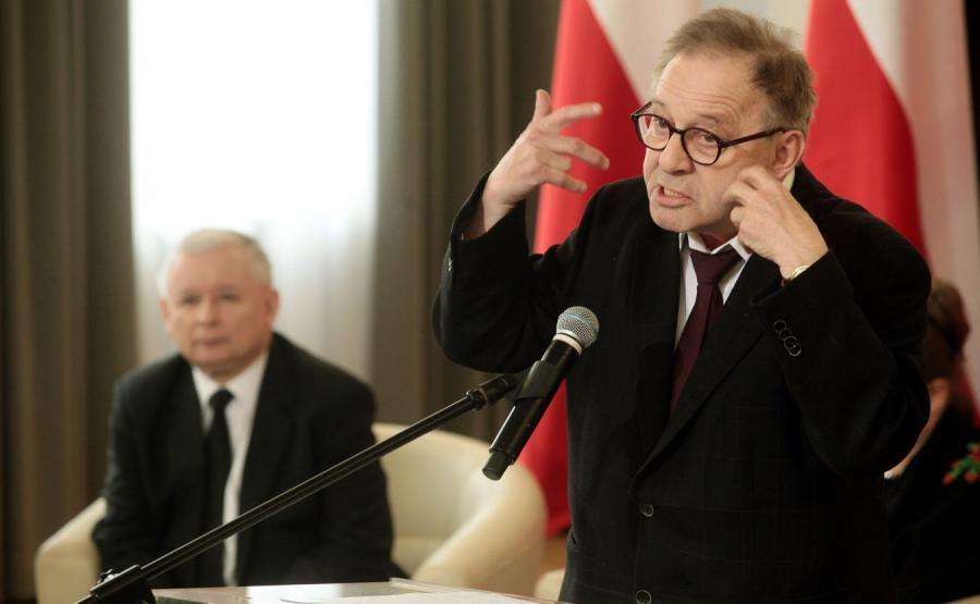 Jarosław Kaczyński i prof. Lech Morawski