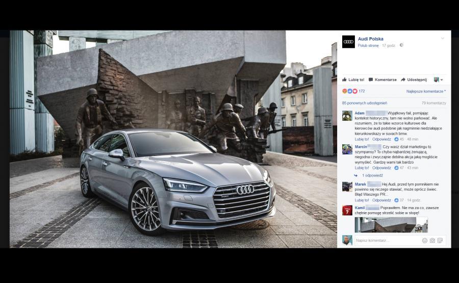 Zdjęcie strony Audi nadesłał Marcin Drogomirecki