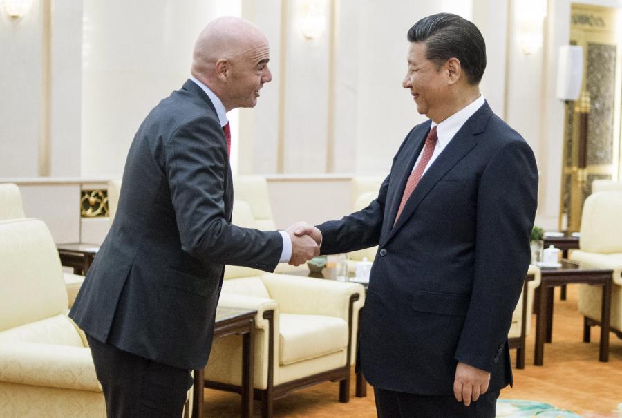 Xi Jinping i Gianni Infantino