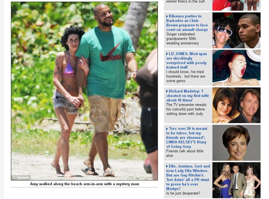 Winehouse tak dobre czuje się na bajecznej wyspie
