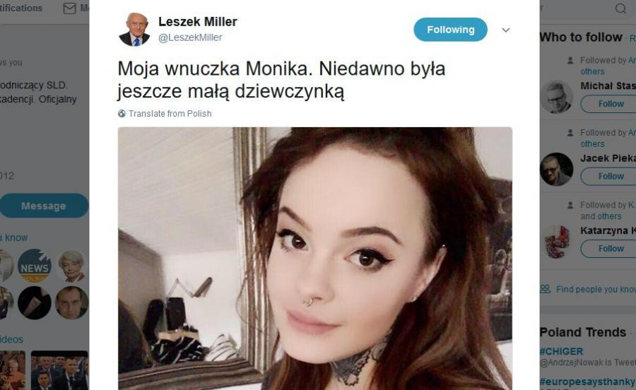 Leszek Miller Pochwalił Się Wnuczką Na Twitterze