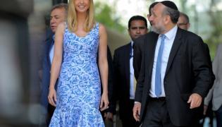 Ivanka Trump i naczelny rabin Polski Michael Schudrich