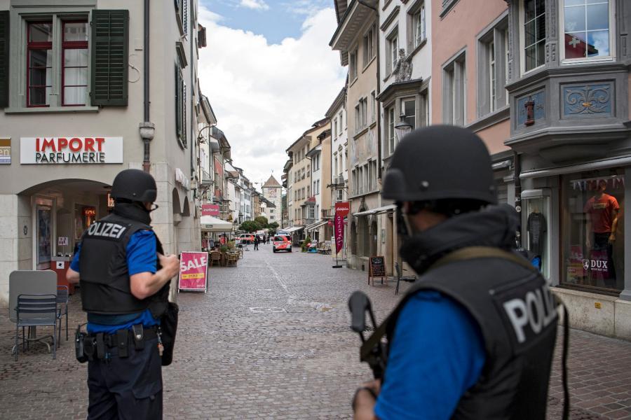 Policja na ulicach Schaffhausen