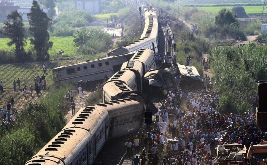 Zderzenie pociągów w Egipcie