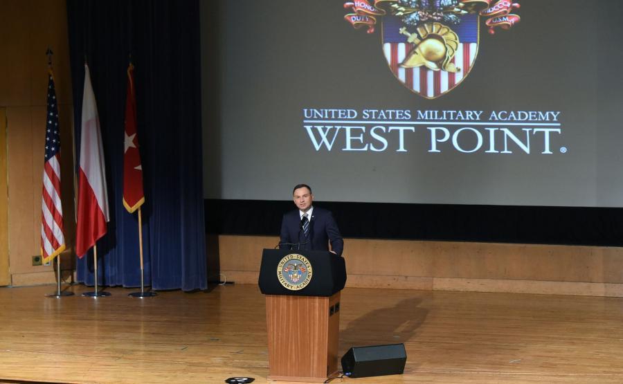 Prezydent Andrzej Duda w West Point
