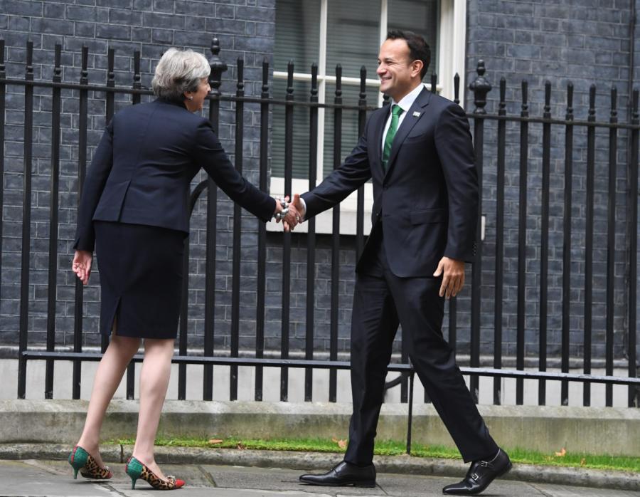 Brytyjska premier Theresa May i premier Irlandii Leo Varadkar