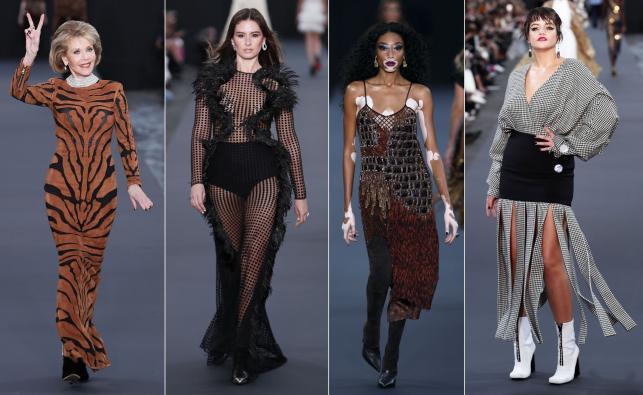 Modelki na pokazie zorganizowanym przez L'Oreal