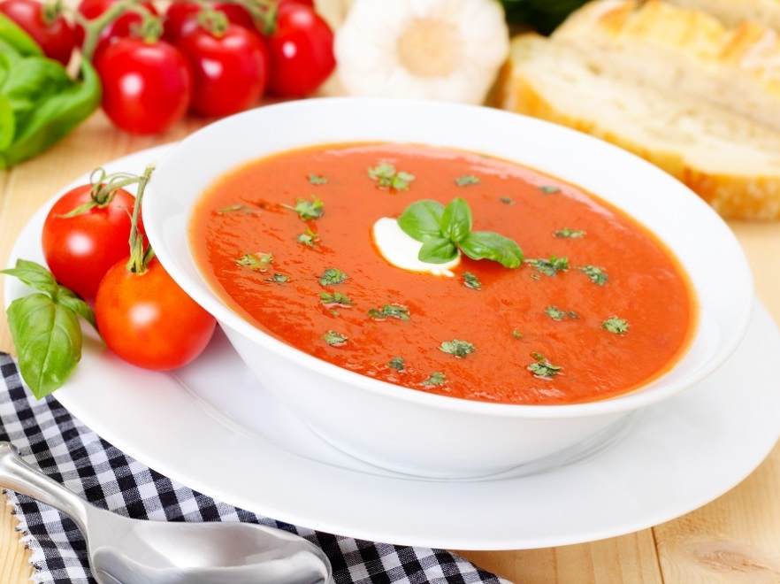 Przepis Na Gesta Zupe Krem Z Pomidorow Z Serem I Bruschetta Pysznie
