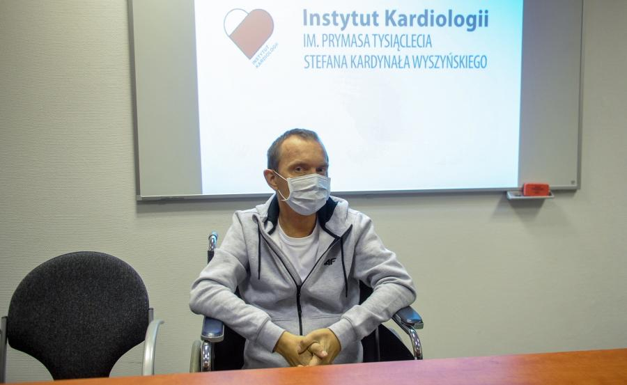 Pacjent Norbert Owczarek, u którego przeszczepiono nerkę i serce