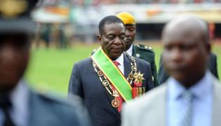 Tymczasowy prezydent Zimbabwe Emmerson Mnangagwa