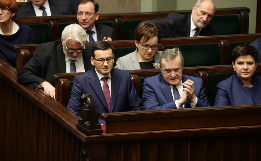 Mateusz Morawiecki w ławach rządowych