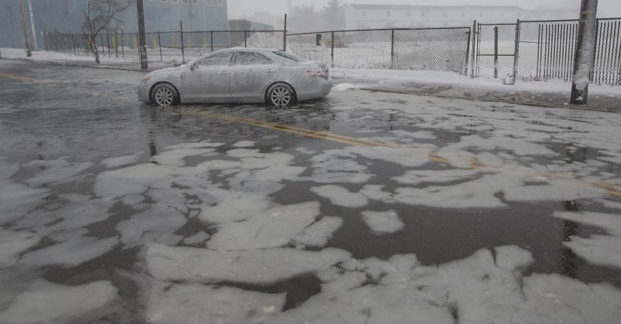 Woda na ulicach miasta Lynn, Massachusetts