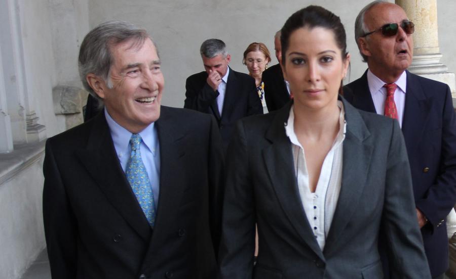 Tamara Czartoryska z ojcem