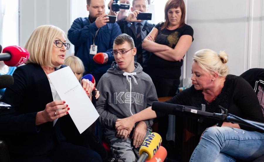 Joanna Kopcińska i protest rodziców osób niepełnosprawnych