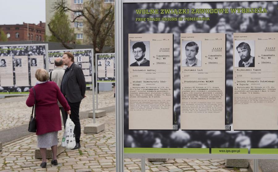 Wystawa Wolne Związki Zawodowe w Gdańsku