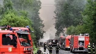 Pożar składowiska opon w Trzebini