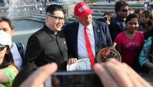 Sobowtór Kim Dzong Una Donalda Trumpa
