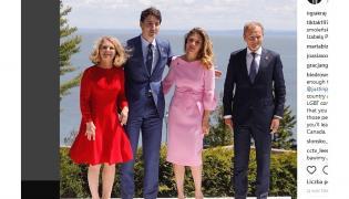 Małgorzata Tusk, Justin Trudeau i Sophie Grégoire Trudeau oraz Donald Tusk