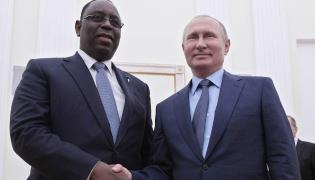 Prezydent Senegalu, Macky Sall i prezydent Rosji, Władimir Putin