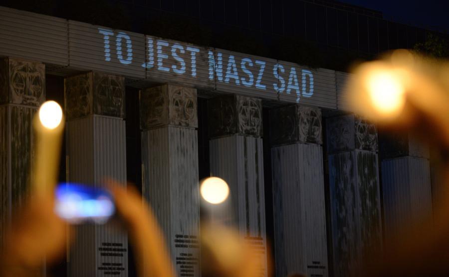 Lipiec 2017, protest przed siedzibą SN \