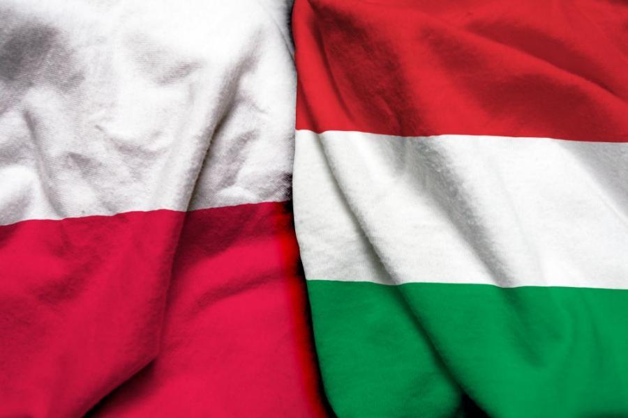 Polska Węgry flaga