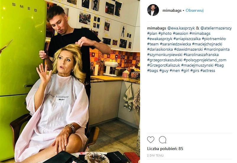 Ewa Kasprzyk w kampanii torebek