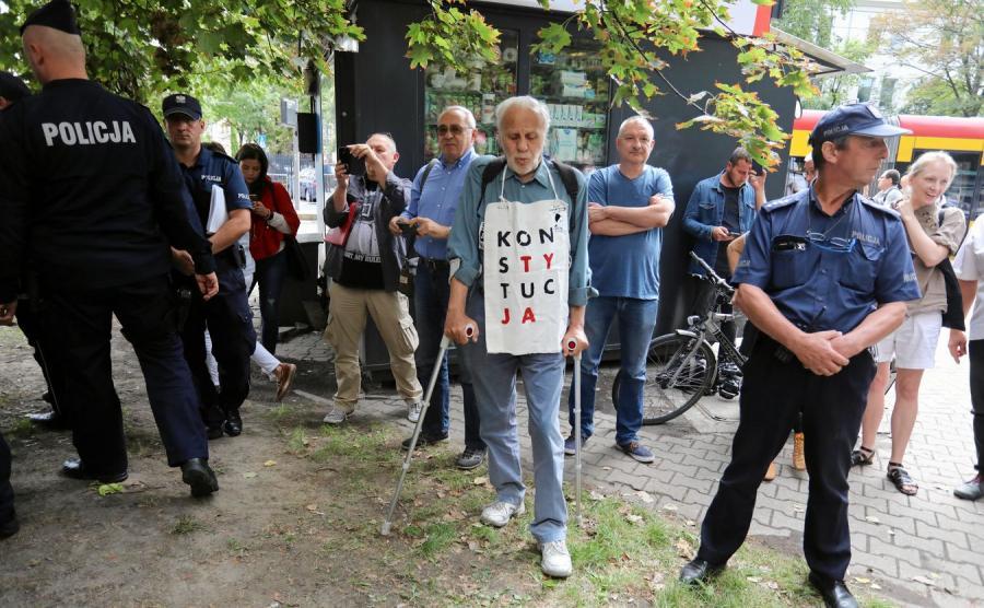 Protest przed KRS