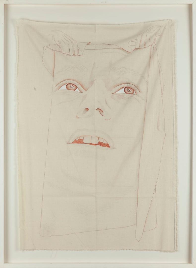 """Ewa Kuryluk, """"Chusta I"""", 1980 r."""