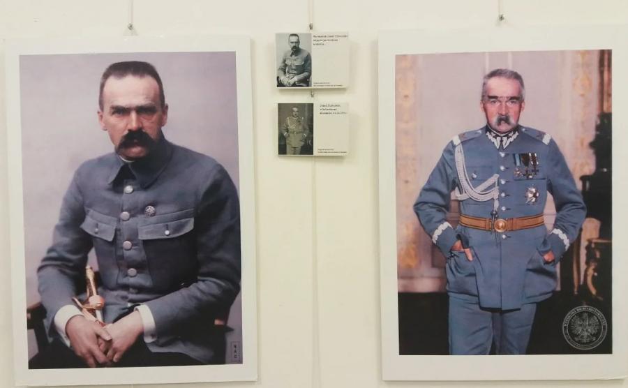 marszałek Józef Piłsudski na koloryzowanych zdjęciach