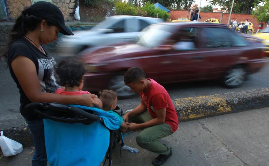 Wenezuelska rodzina w Kolumbii