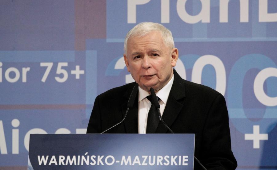 Jarosław Kaczyński na konwencji regionalnej PiS w Olsztynie