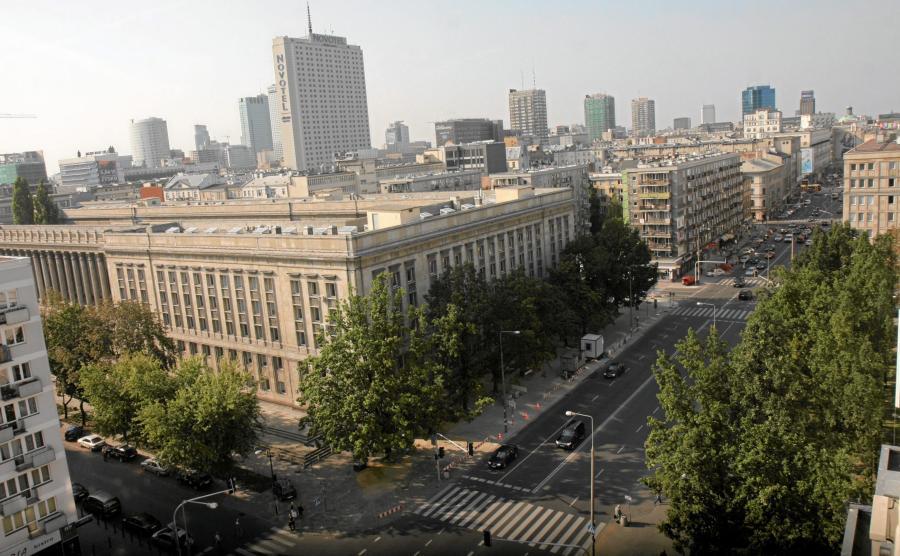 Widok z okna Mercure Grand Hotel na ul. Kruczą