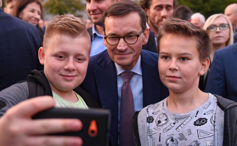 Mateusz Morawiecki na spotkaniu wyborczym