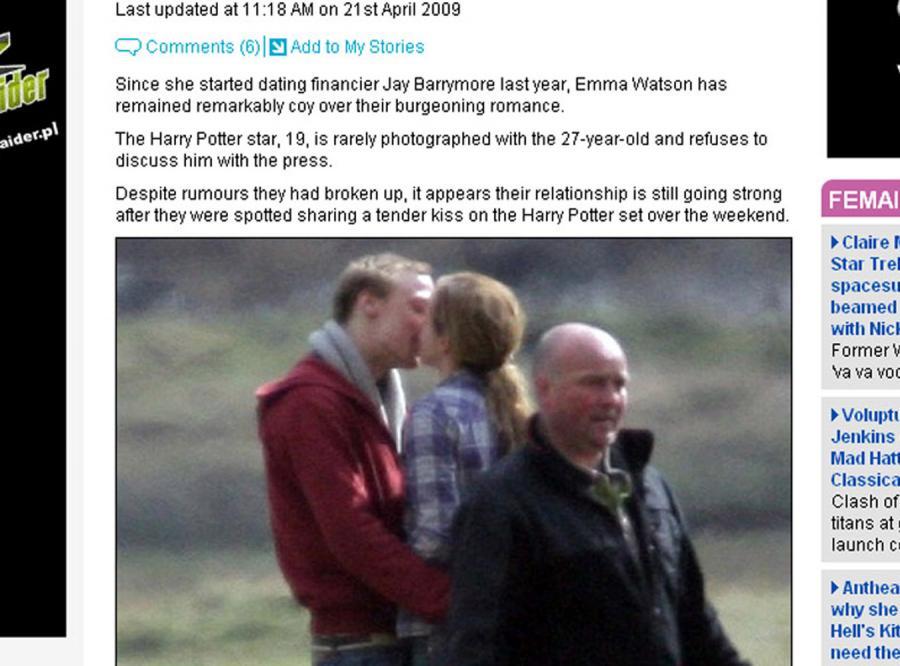 Emma Watson została przyłapana na gorących całusach