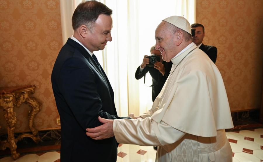 Prezydent Andrzej Duda i papież Franciszek