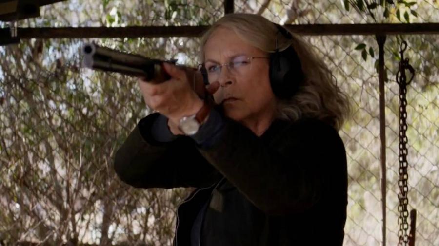Jamie Lee Curtis jako Laurie Strode w filmie \