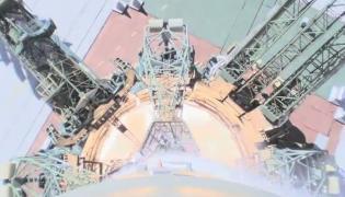 Nagranie usterki po starcie Sojuza