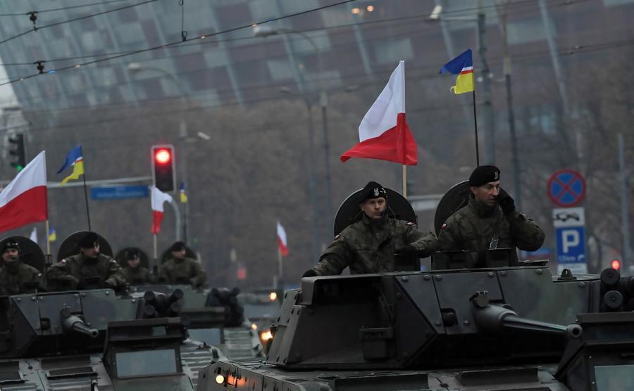 Żołnierze na Marszu Niepodległości