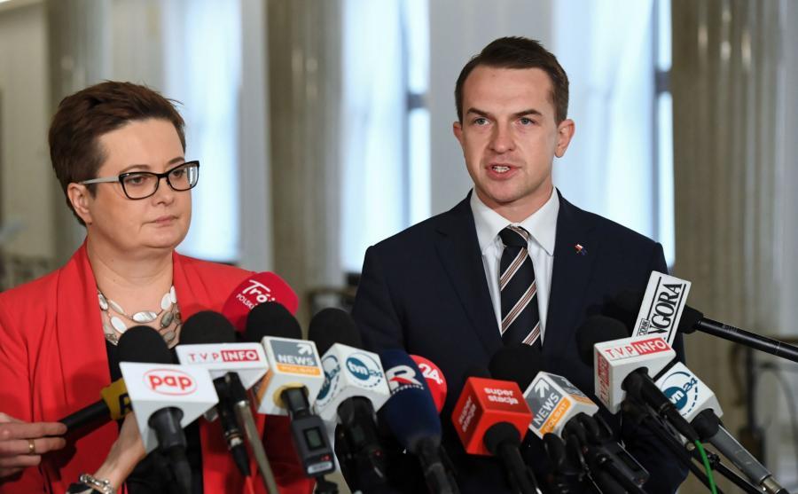 Katarzyna Lubnauer i Adam Szłapka