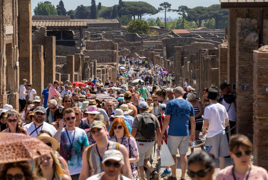 Ruch w Pompejach bywa wściekle nieznośny