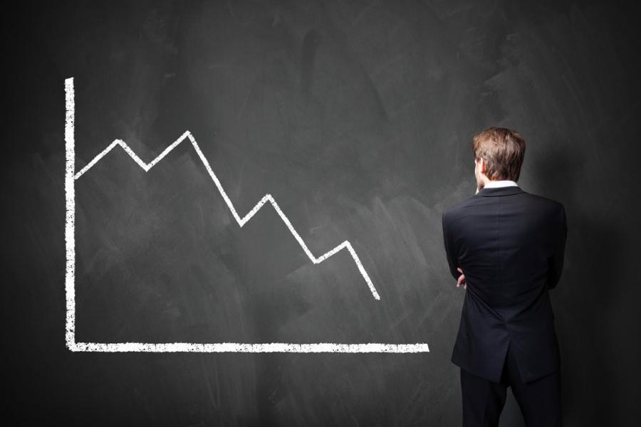 Kryzys, wykres, ekonomia, biznes
