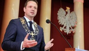 Rafał Trzaskowski podczas zaprzysiężenia na prezydenta Warszawy