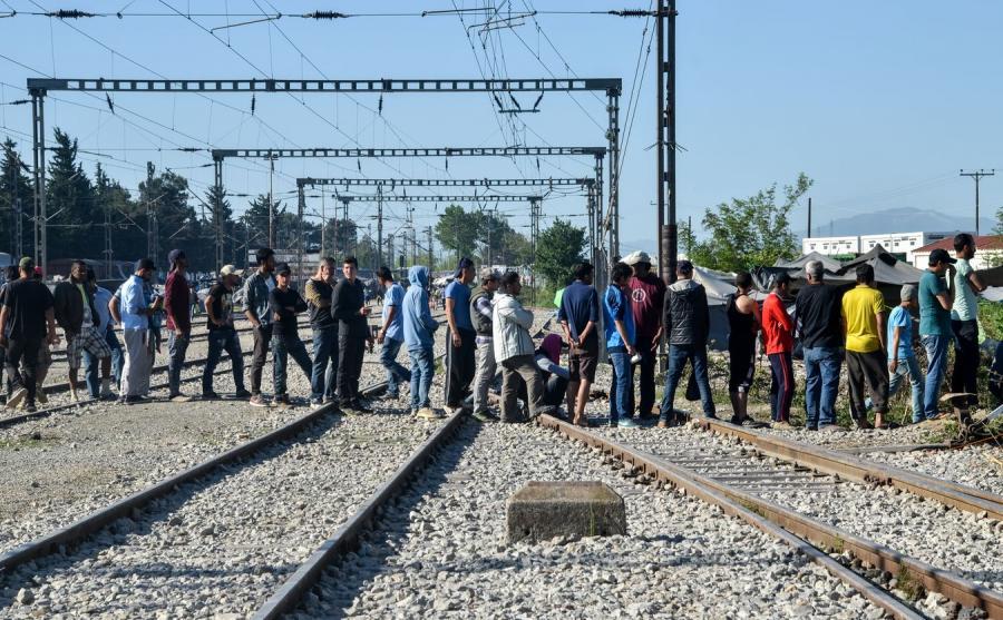 Obóz uchodźców w Grecji