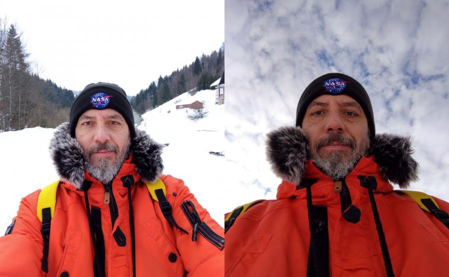 Zdjęcia selfie wykonane telefonem Nokia 7.1